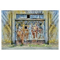 Rusty Metal Door Wall Art Poster