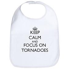 Keep Calm by focusing on Tornadoes Bib
