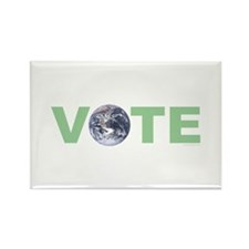 Vote Green Rectangle Magnet (100 pack)
