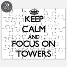 Keep Calm by focusing on Towers Puzzle
