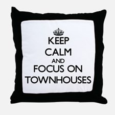 Keep Calm by focusing on Townhouses Throw Pillow