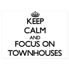 Keep Calm by focusing on Townhouses Invitations
