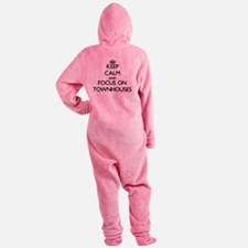Keep Calm by focusing on Townhouses Footed Pajamas