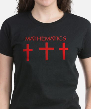 mathematics red T-Shirt