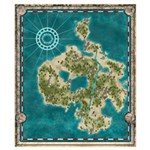 Pirate Adventure Map Wall Art