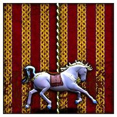Carousel Horse Wall Art Poster