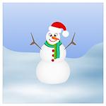 Santa Snowman Wall Art