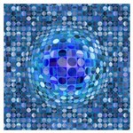 Optical Illusion Sphere - Blue Wall Art