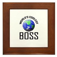 World's Coolest BOSS Framed Tile