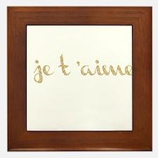 je t'aime Framed Tile
