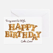 For ex-wife, a Birthday card for a cookie lover Gr