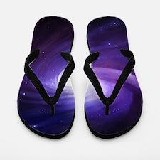 Purple Vortex Flip Flops