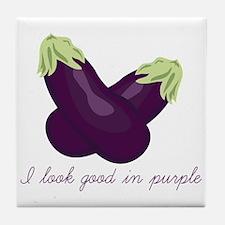 Purple Veggie Tile Coaster