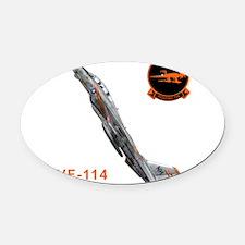 vf114logo10x10_apparel copy.png Oval Car Magnet