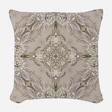 glamorous girly Rhinestone lac Woven Throw Pillow