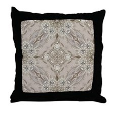 glamorous girly Rhinestone lace pearl Throw Pillow