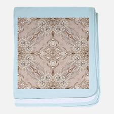 glamorous girly Rhinestone lace pearl baby blanket