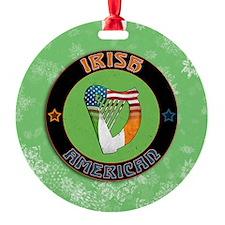 Irish American Harp Christmas Ornament