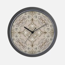 glamorous girly Rhinestone lace pearl Wall Clock
