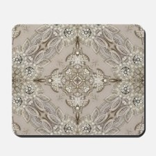 glamorous girly Rhinestone lace pearl Mousepad