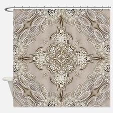 glamorous girly Rhinestone lace pea Shower Curtain
