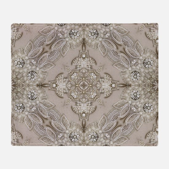 glamorous girly Rhinestone lace pear Throw Blanket