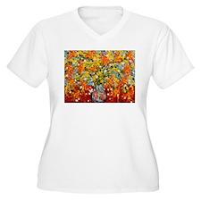 New York Wildflowers 3 Plus Size T-Shirt