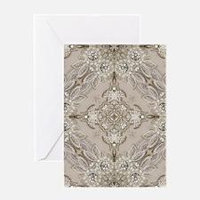 glamorous girly Rhinestone lace pea Greeting Cards