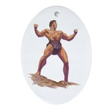 Gordon Scott Memorial Oval Ornament