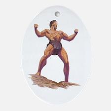 Gordon Scott Memorial Oval Ornament