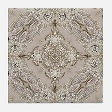 glamorous girly Rhinestone lace pearl Tile Coaster