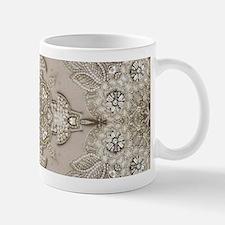 glamorous girly Rhinestone lace pearl Mugs