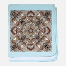 girly vintage pearl diamond glamorous baby blanket