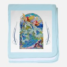 Djer Kiss Art Deco Sea Fairies baby blanket