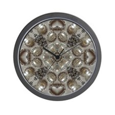 girly vintage pearl diamond glamorous Wall Clock