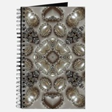 girly vintage pearl diamond glamorous Journal