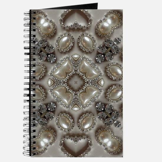 girly vintage pearl diamond glamorous Journal