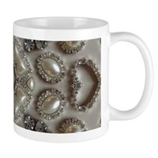 girly vintage pearl diamond glamorous Mugs