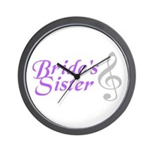 Bride's Sister(clef) Wall Clock