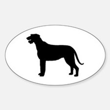 Irish Wolfhound Silhouette Oval Decal