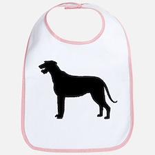Irish Wolfhound Silhouette Bib