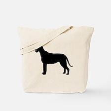 Irish Wolfhound Silhouette Tote Bag