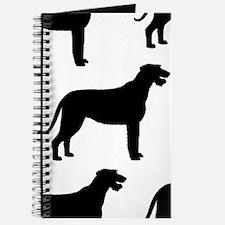 Irish Wolfhound Silhouette Journal