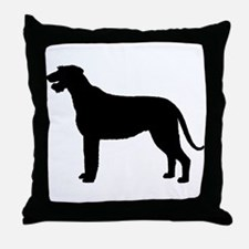 Irish Wolfhound Silhouette Throw Pillow