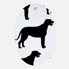 Irish Wolfhound Silhouette Oval Ornament