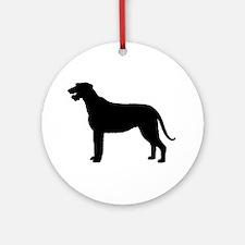 Irish Wolfhound Silhouette Ornament (Round)