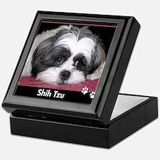 Shih Tzu Dog Photo Keepsake Box