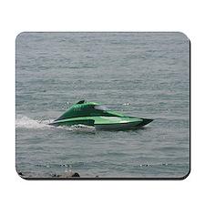 Green Hydroplane Mousepad