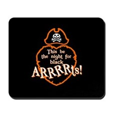 Halloween Pirate Design Mousepad