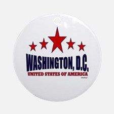 Washington, D.C. Ornament (Round)